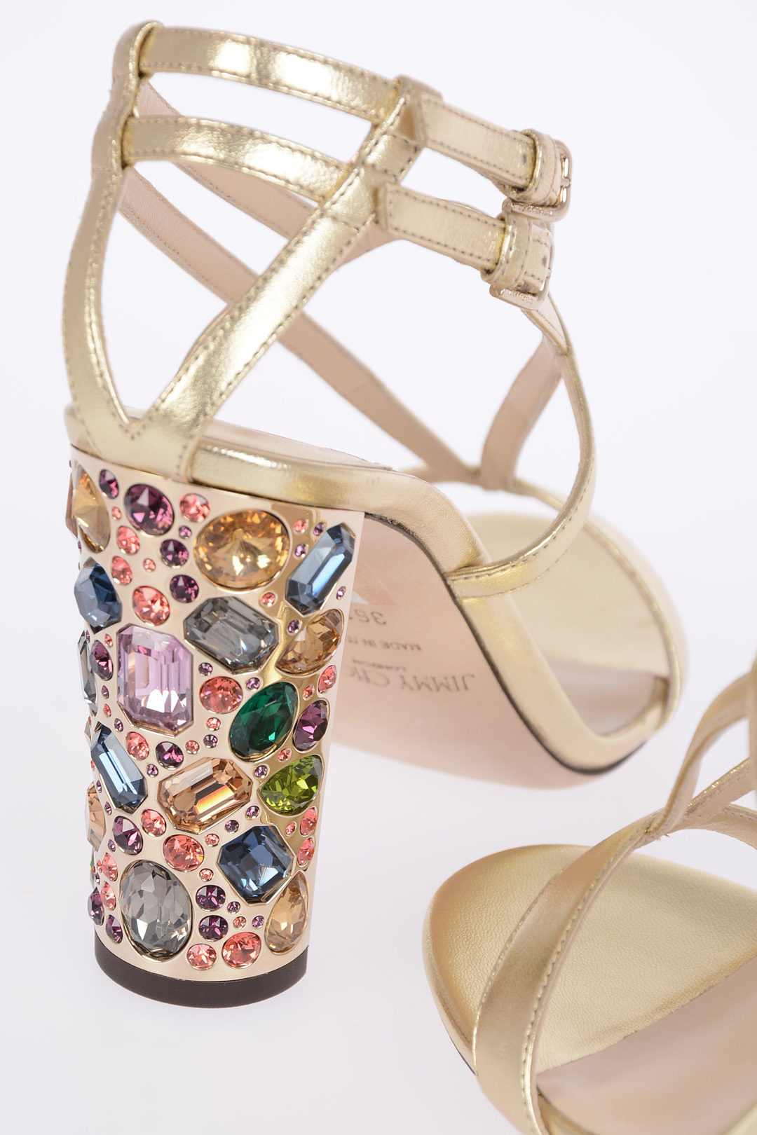 9396d60a7d497f Jimmy Choo 10 cm Leather MAEVE Sandals with Jewel Heel women ...