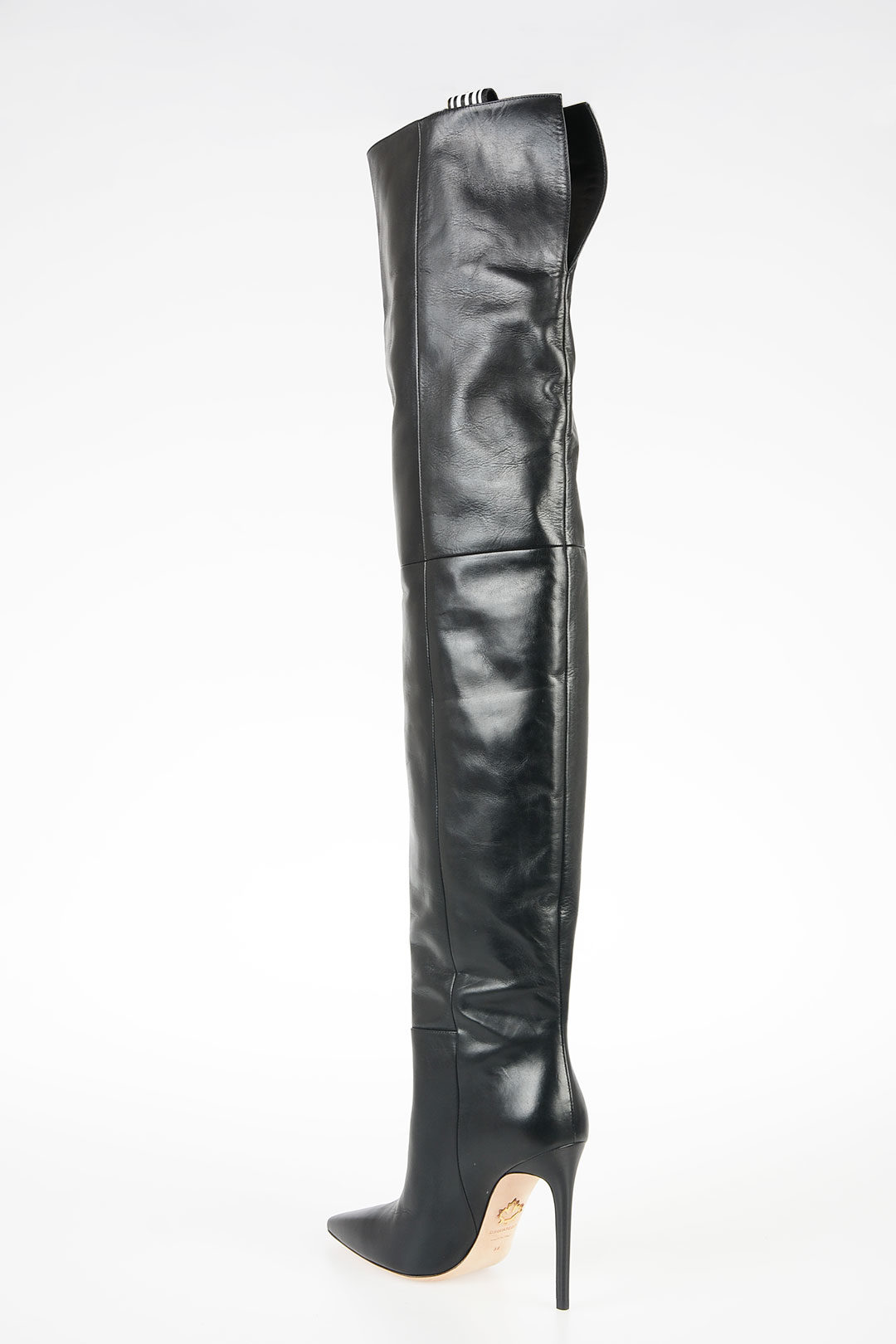 11cm Leather TAPE Boots