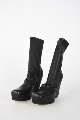 fcfe7c960 -60%. Rick Owens 12 cm Leather SOCK WEDGE Booties