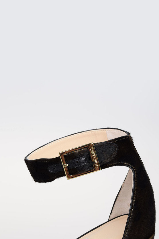 12 cm Pony Skin and Leather HOLLY Sandals