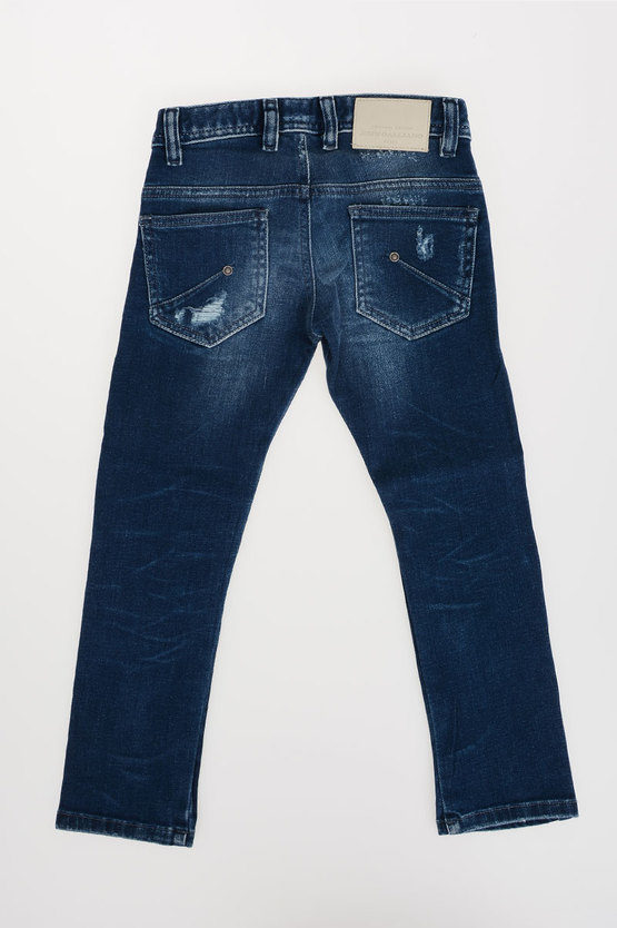 12cm Distresses Denim Jeans