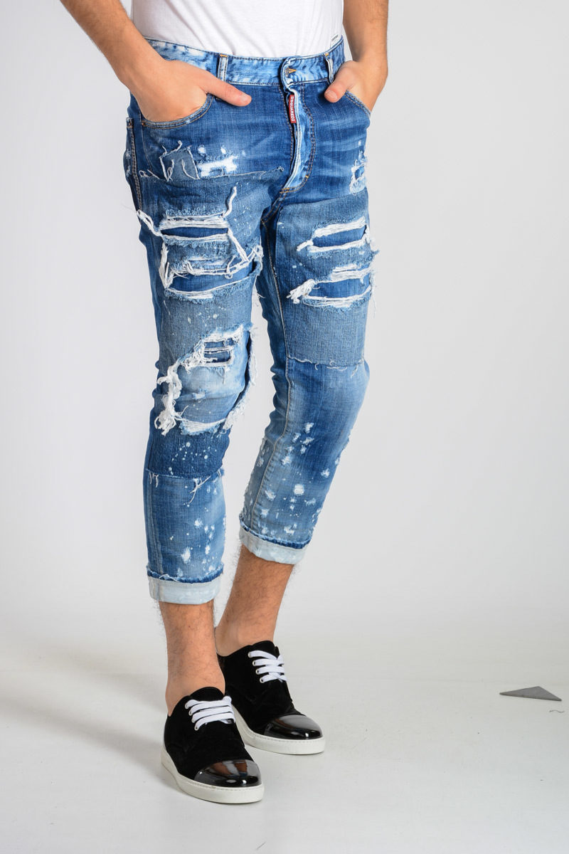 Clearance Cheapest Price 17cm Stretch Denim GLAMHEAD Jeans Spring/summer Dsquared2 Outlet Wiki Sale With Mastercard ael6uy38p