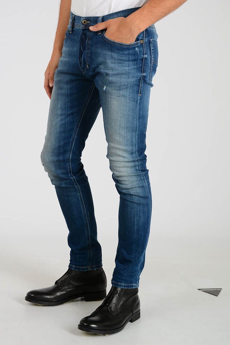 a054bc47 Diesel 16cm Slim Carrot Denim TEPPHAR L.32 Jeans men - Glamood Outlet