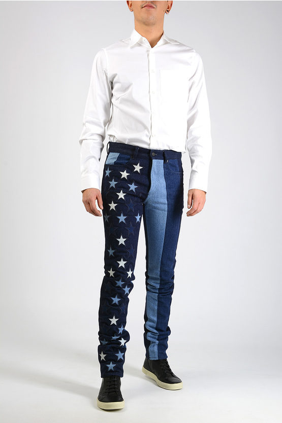 16cm Stars Embroidered Jeans
