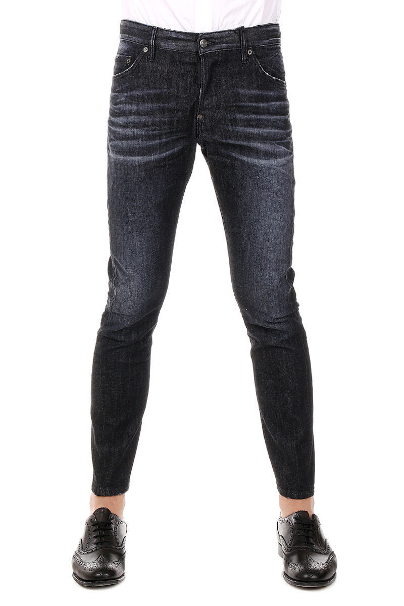 Dsquared2 17 cm Stretch Denim Dark Wash M.B. JEAN Capri Jeans men ... 4f10f1e340a2