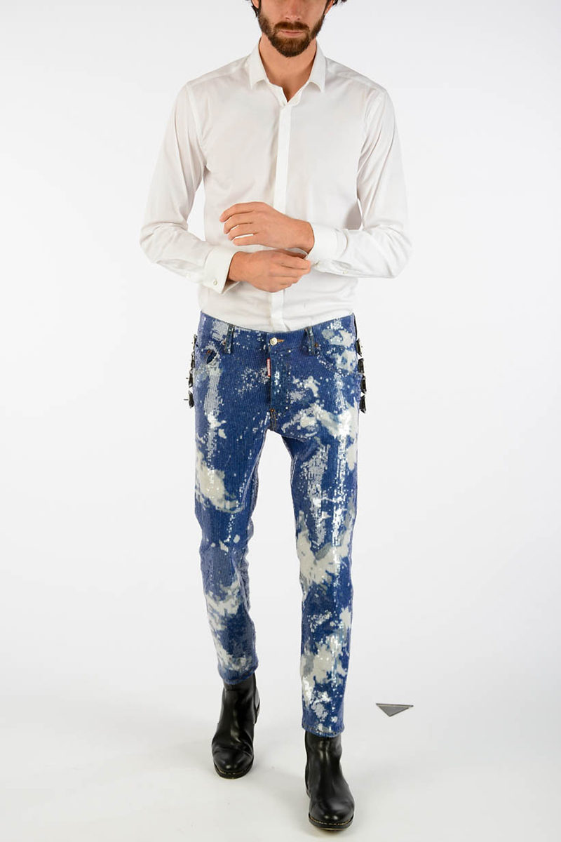 086dc809c90 Dsquared2 17cm Jeans with Sequins men - Glamood Outlet