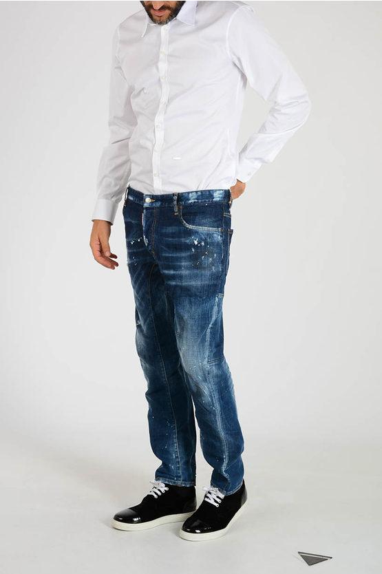 17cm Stretch Denim TIDY BIKER Jeans