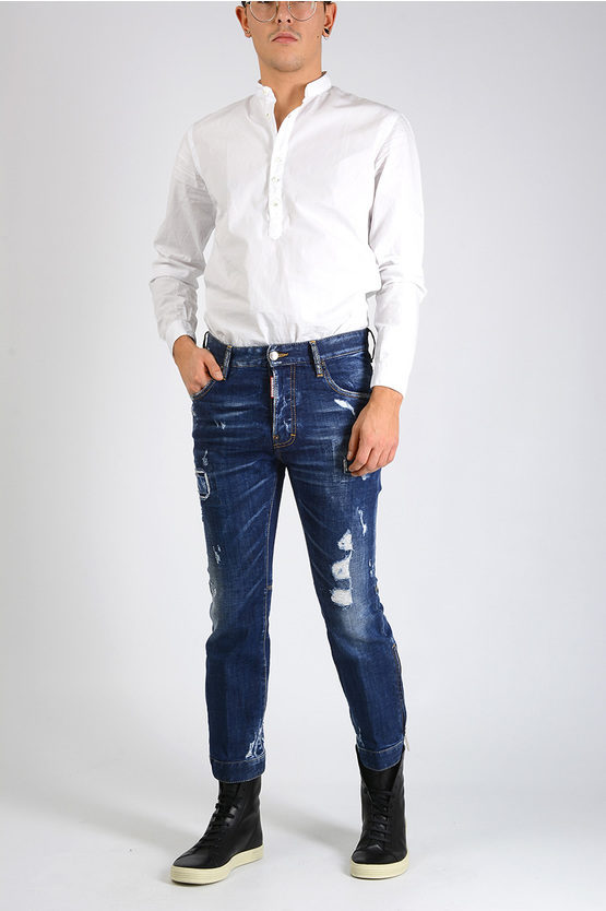 18cm Distressed BIKER SKY Jeans