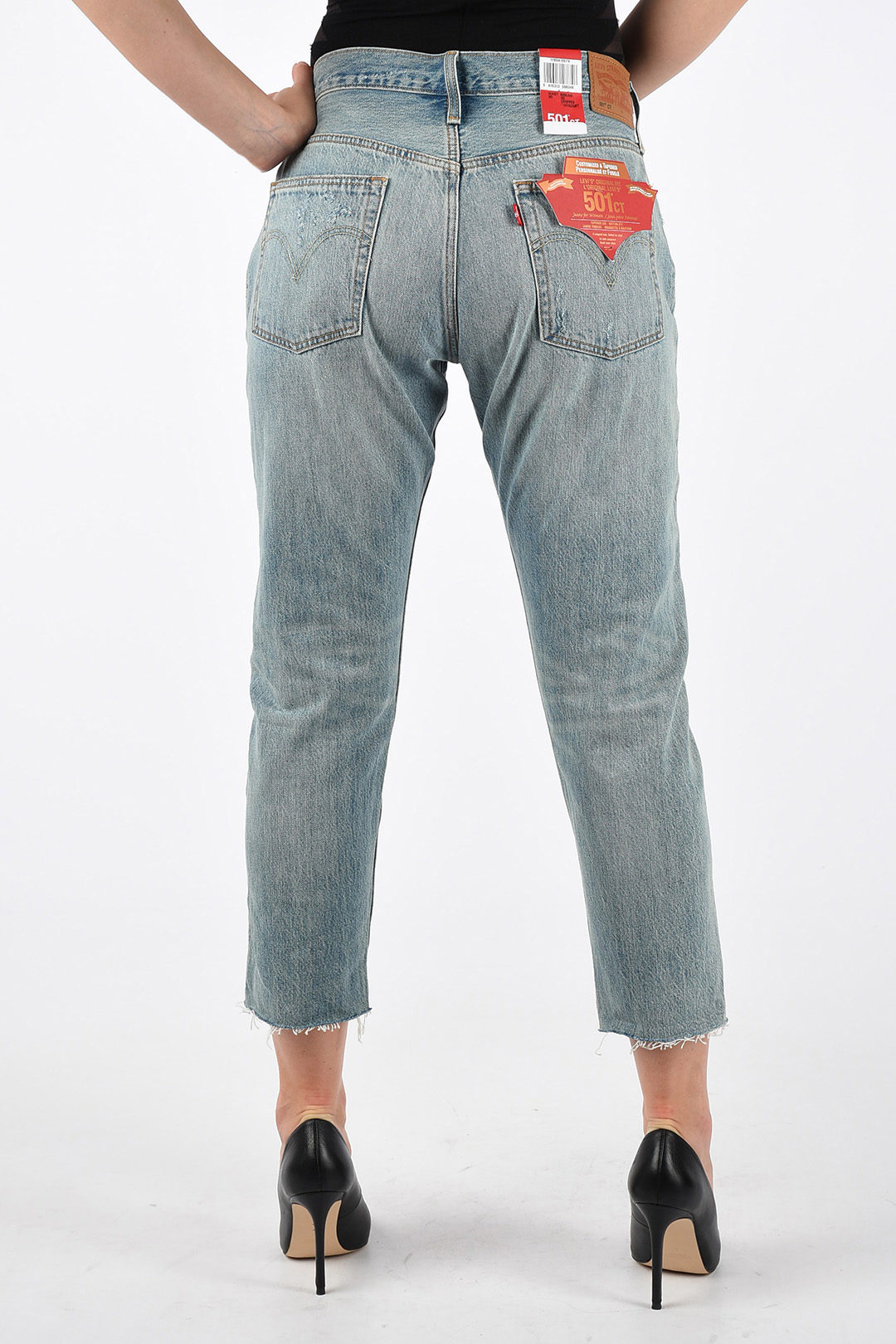 18cm Distressed Denim 501CT L32 Jeans