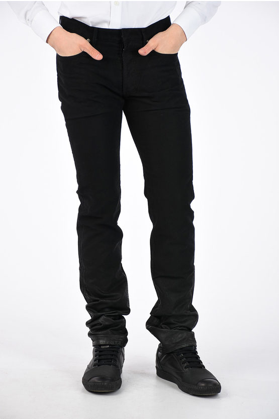 19cm Coated Denim Jeans