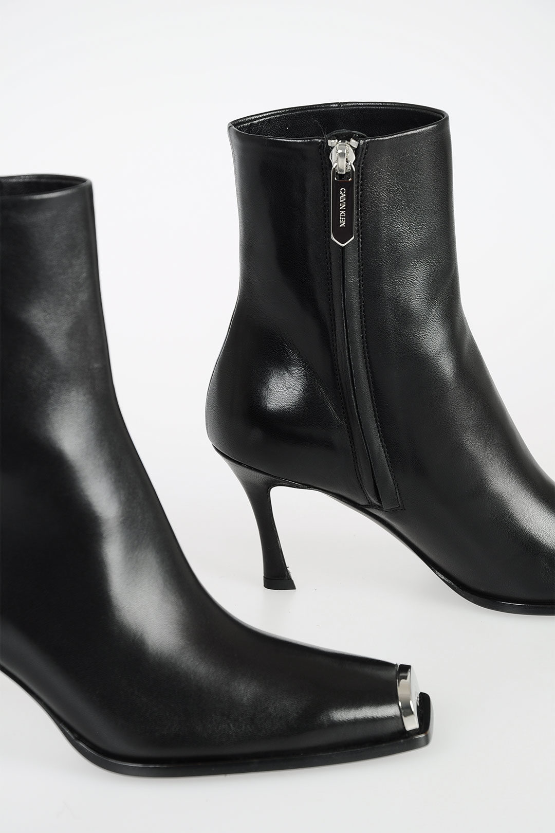 205W39NYC 8cm Leather Ankle Boots