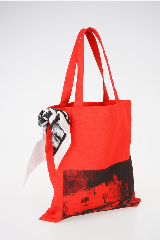 205W39NYC ANDY WARHOL Printed Canvas MUSEUM Shopping Bag