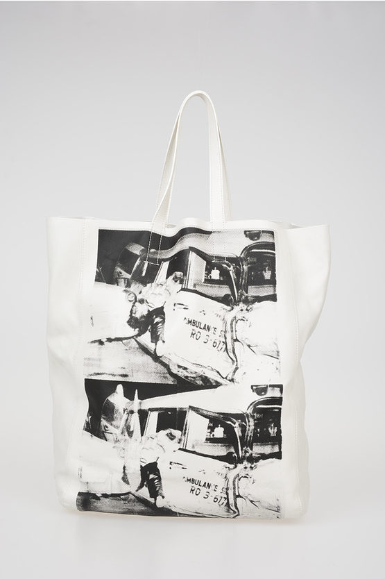 205W39NYC ANDY WARHOL Printed Leather Shopping Bag