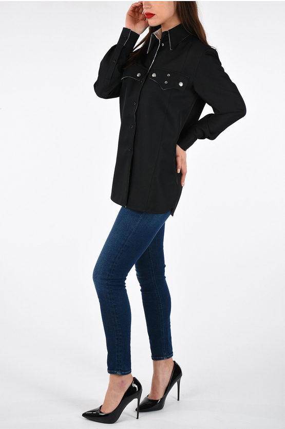 205W39NYC Blouse With Breast Pocket