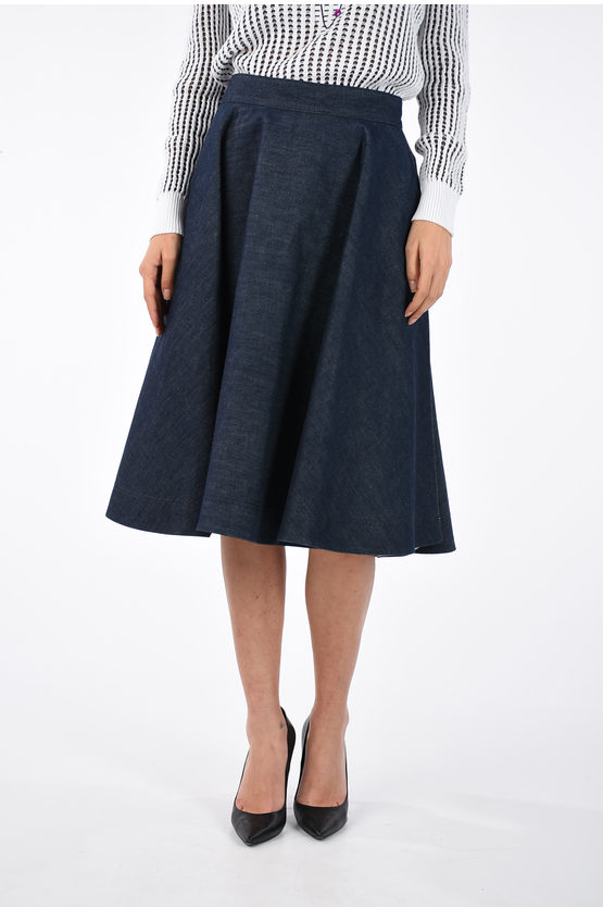 205W39NYC Denim Skirt A-Line