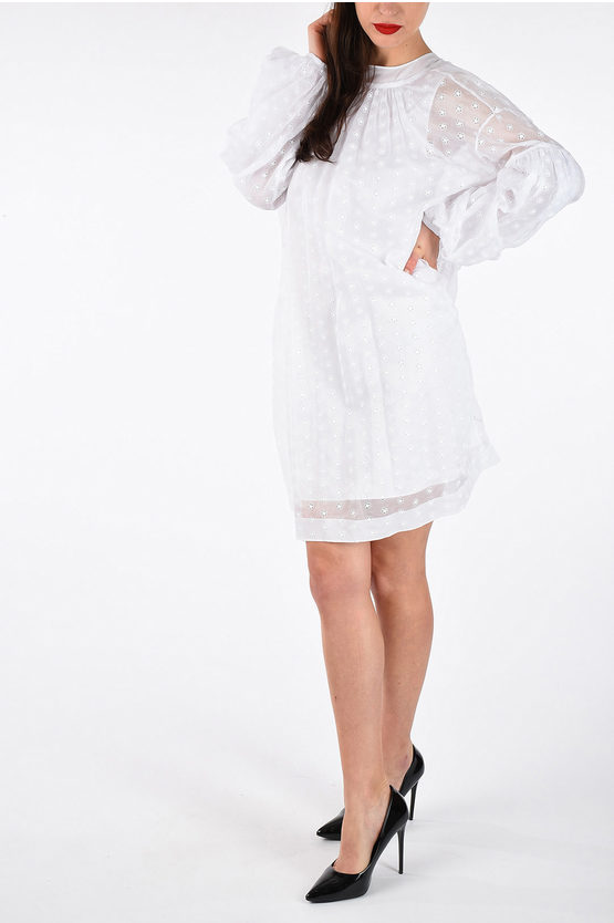 205W39NYC Embroidered Tunic Dress