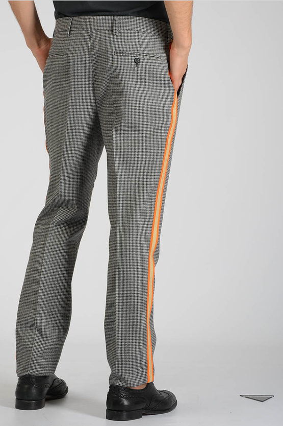 205W39NYC Lateral Striped Checked Pants