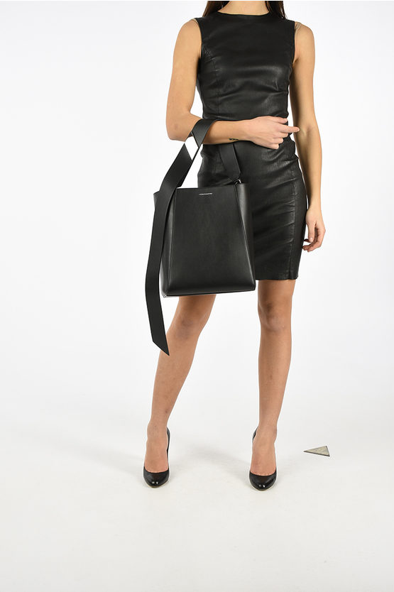 205W39NYC Leather Bucket Bag