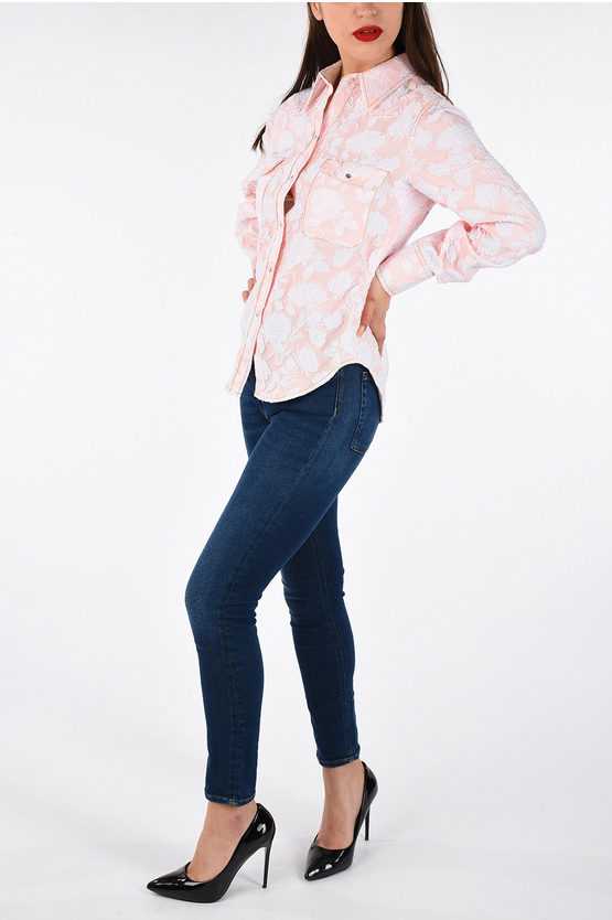 205W39NYC Rose Embroidered Blouse