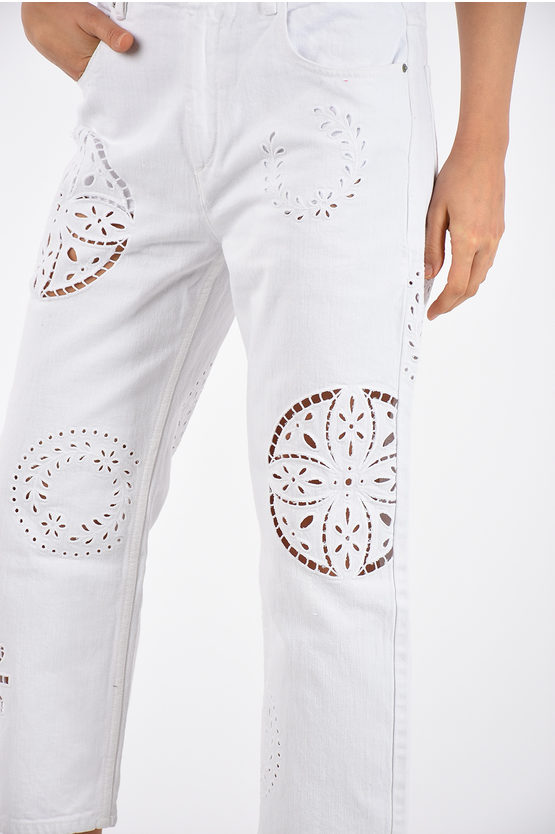 20cm Embroidery Jeans