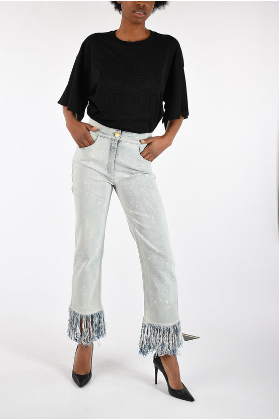 20cm Jeans with Fringe