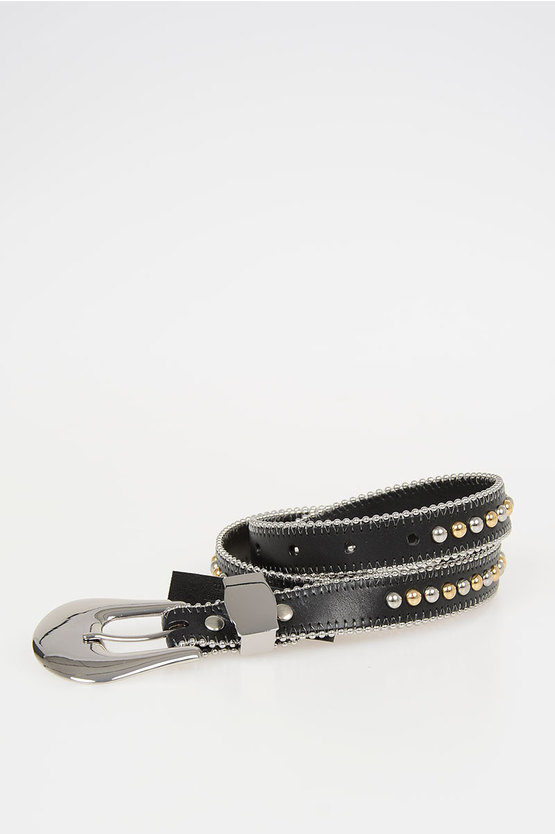 20mm Leather Belt with Stud