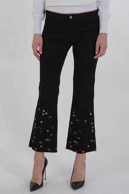 Good Selling Online Very Cheap 22cm Stretch Denim Flowers Embroidered Jeans Spring/summer Ermanno Scervino Free Shipping Largest Supplier MwbwtK4H
