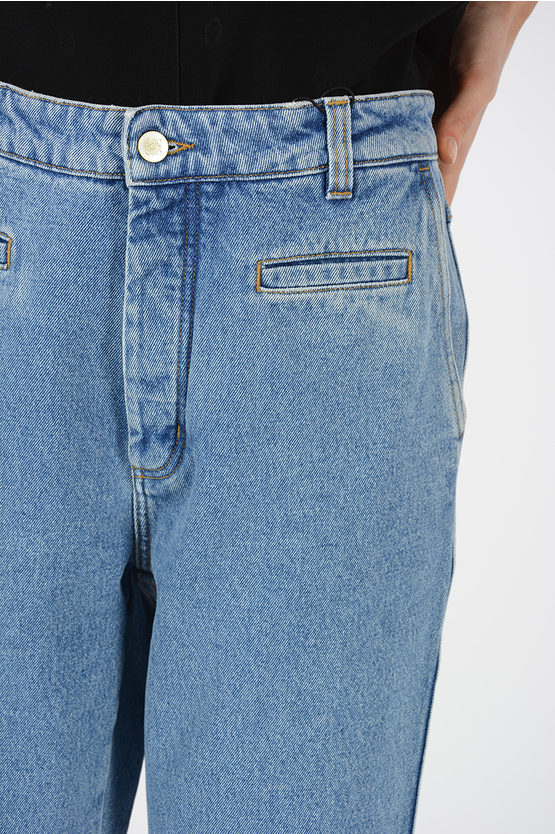 23 cm Wide Cropped Fisherman Mid-Rise Jeans