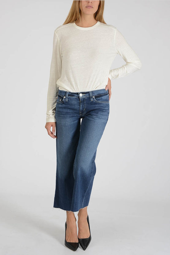 24cm Stretch Denim Capri CROP SAMMI Jeans