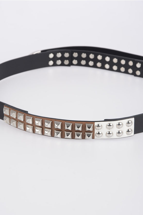 25mm Leather Belt with Stud