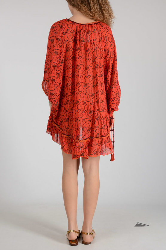 3/4 Sleeves PONCHO BOBO Dress