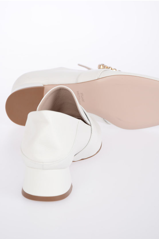 3.5 cm Leather IRISES Mules with Jewel Details