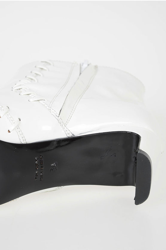 4.5 cm Patent Leather Booties