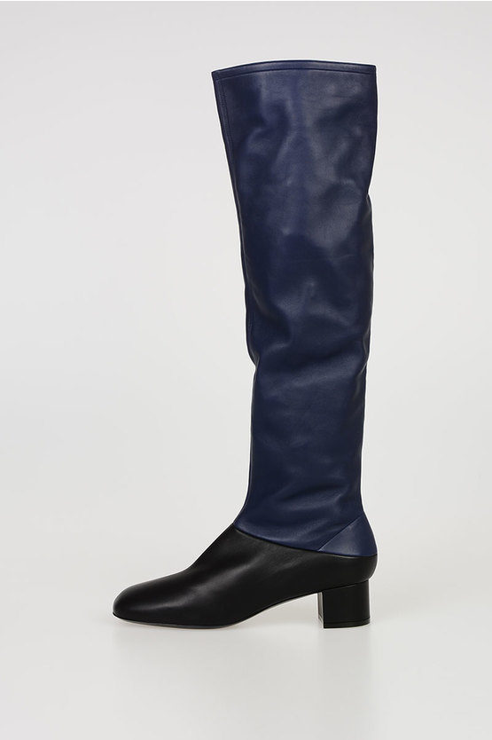 4,5cm Leather Diagonal Cut Boots