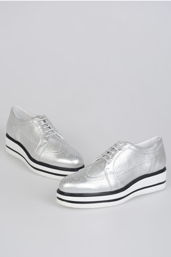 4 cm Leather Derby Shoes H323 with Platform