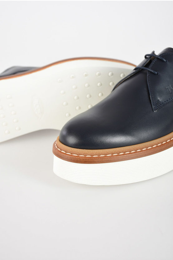 4 cm Leather Oxfords with Platform