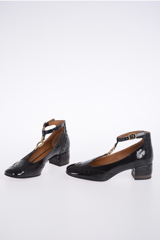 4 cm Patent Leather Heeled Shoes