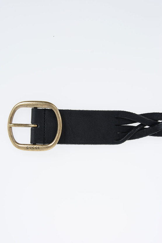 40 mm Braided Leather Belt