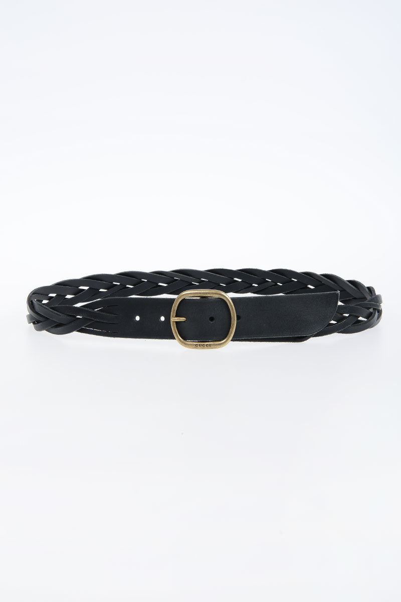e4953c255d5 Gucci 40 mm Braided Leather Belt men - Glamood Outlet