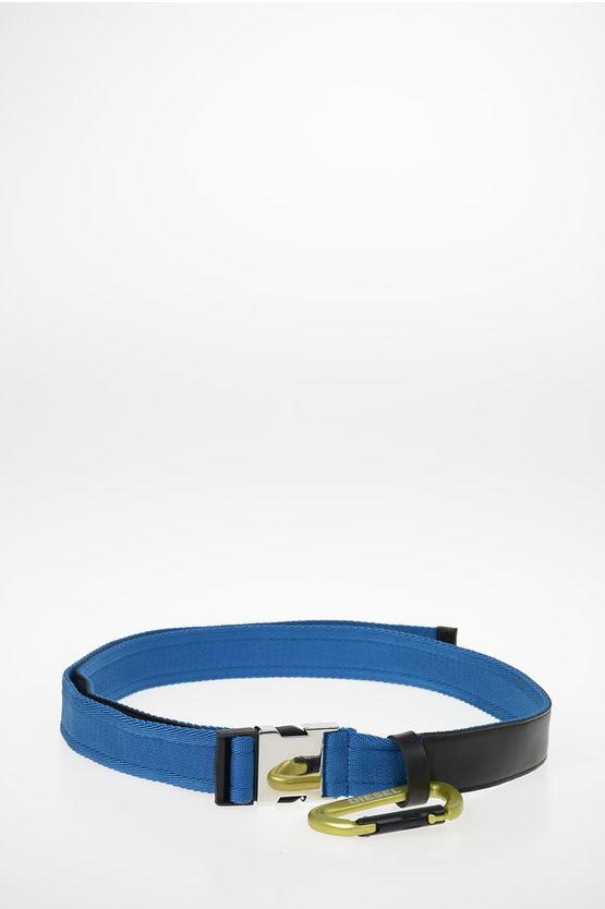 40mm Leather and Fabric B-ALTIVOLE Belt