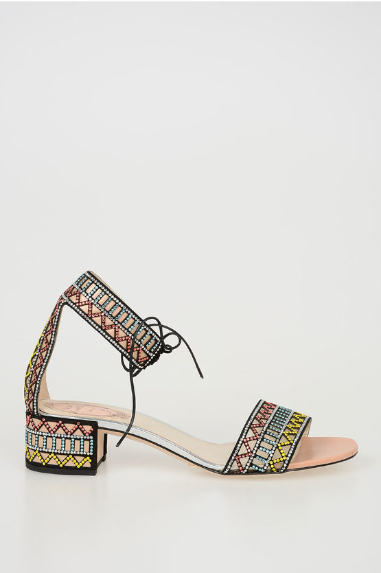4cm Sandals with Strass