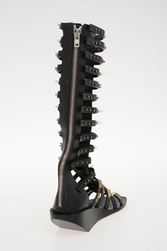 5 cm Leather ALLOVER STUDDED HIGH Sandals