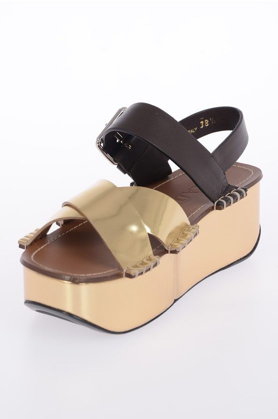 5 cm Leather Sandals with Platform
