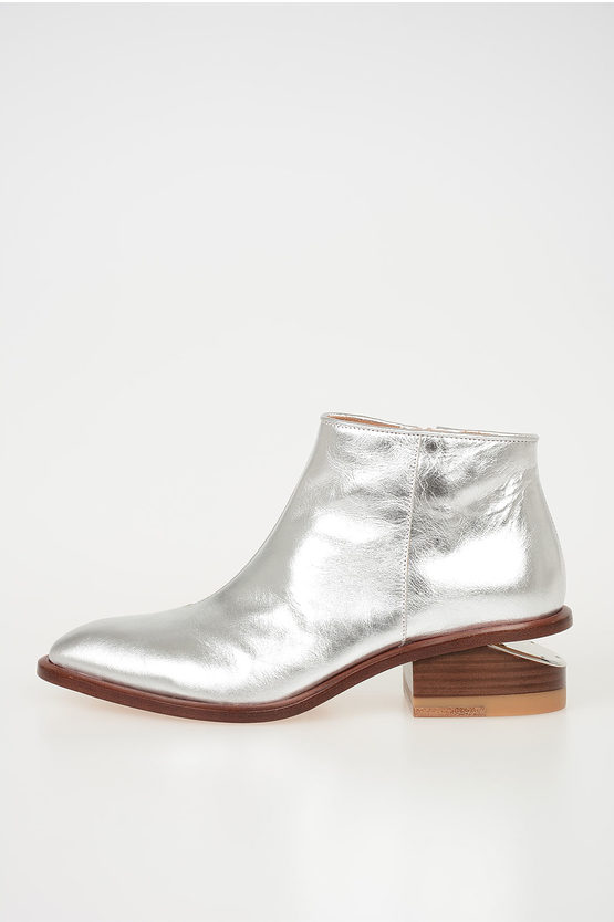 5 cm Metallic Leather KORI Booties