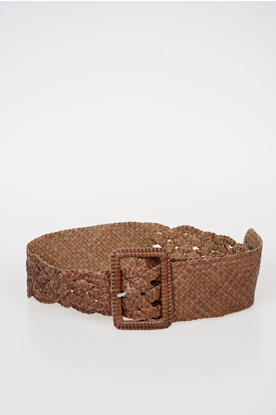 50mm Braided Leather Belt