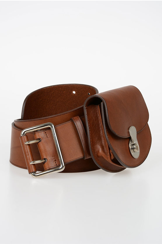 50mm Leather Belt with Wallet