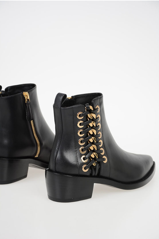 5cm Leather Boots