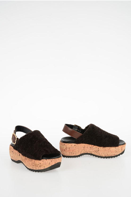 6,5cm Real Fur Sandals