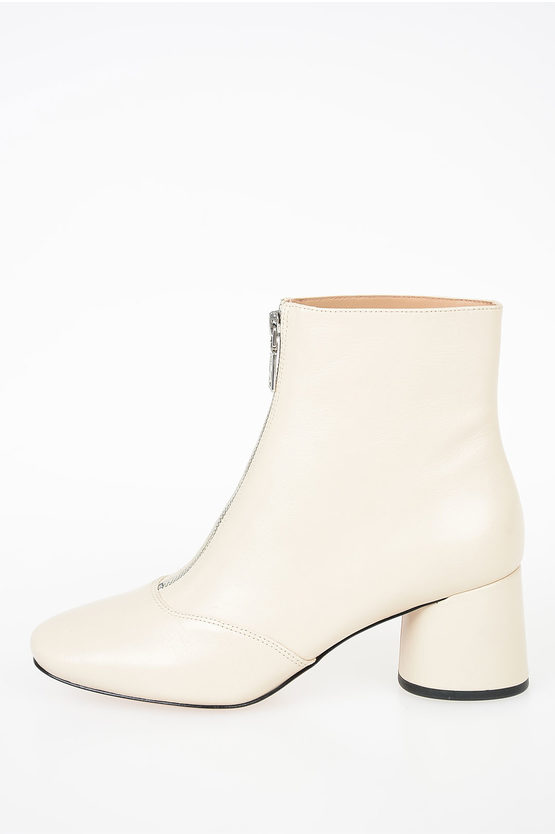 6 cm Leather Booties