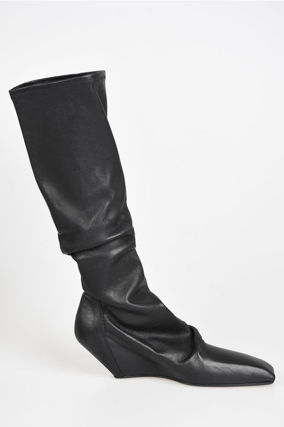 6 cm Leather SLIVER SOCK STIVALI Boots